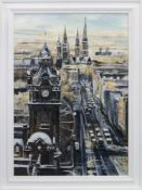 EDINBURGH SNOW, AN ACRYLIC BY HELEN MCDONALD MATHIE