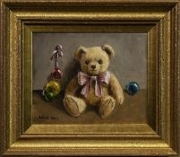 BEARS & BAUBLES, AN OIL BY DEBORAH JONES