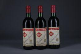 TWO BOTTLES OF BODEGAS BILBAINAS 1996 AND ONE 1955 VENDIMIA ESPECIAL