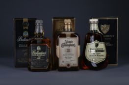 BALLANTINE'S GOLD SEAL 12 YEARS OLD, ALISTAIR CUNNINGHAM'S 50 YEARS AND PRESIDENT SPECIAL RESERVE