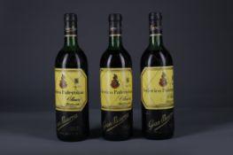 THREE BOTTLES OF FEDERICO PATERNINA 1968 GRAN RESERVA