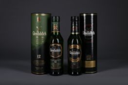 TWO HALF BOTTLES OF GLENFIDDICH 12 YEARS OLD