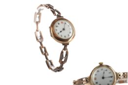 TWO LADY'S NINE CARAT GOLD WRIST WATCHES