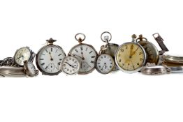 A COLLECTION OF SILVER AND OTHER POCKET WATCHES