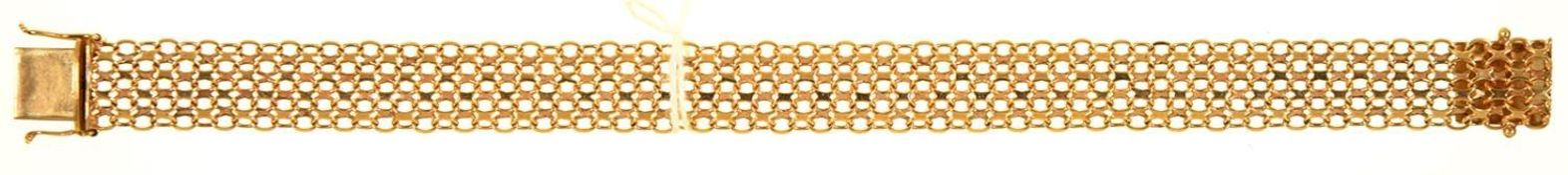 A 9CT GOLD BRACELET, 193MM L, IMPORT MARKED LONDON 1977, 12.5G Good condition