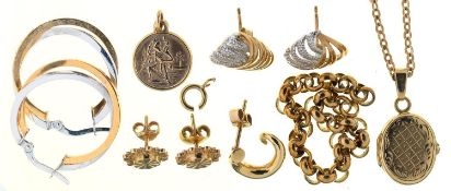 MISCELLANEOUS GOLD JEWELLERY, APPROX 18G As a lot, mostly in good condition