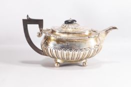 A silver teapot of Regency form,