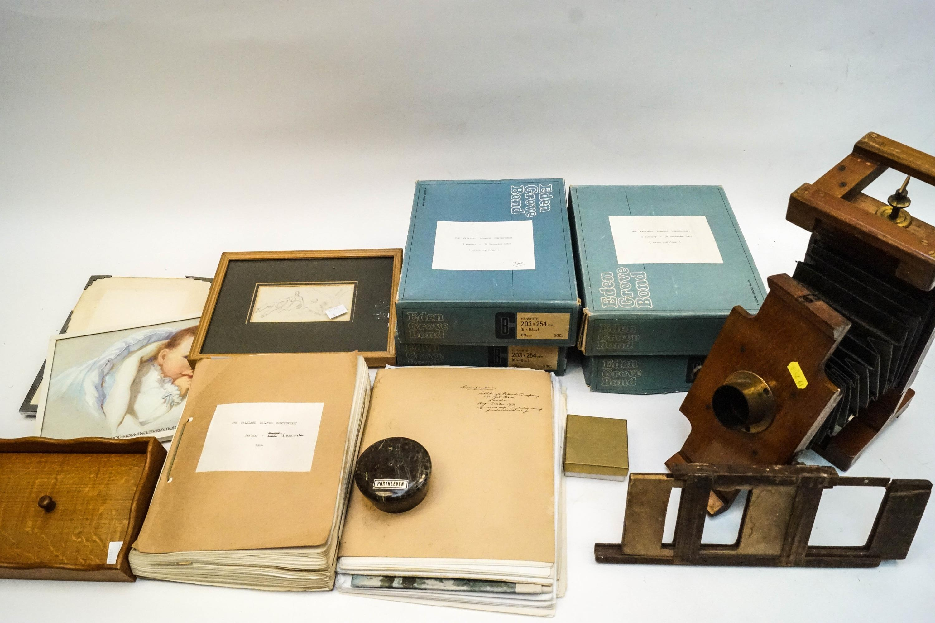 Lot 50 - A 19th century camera lens and other items