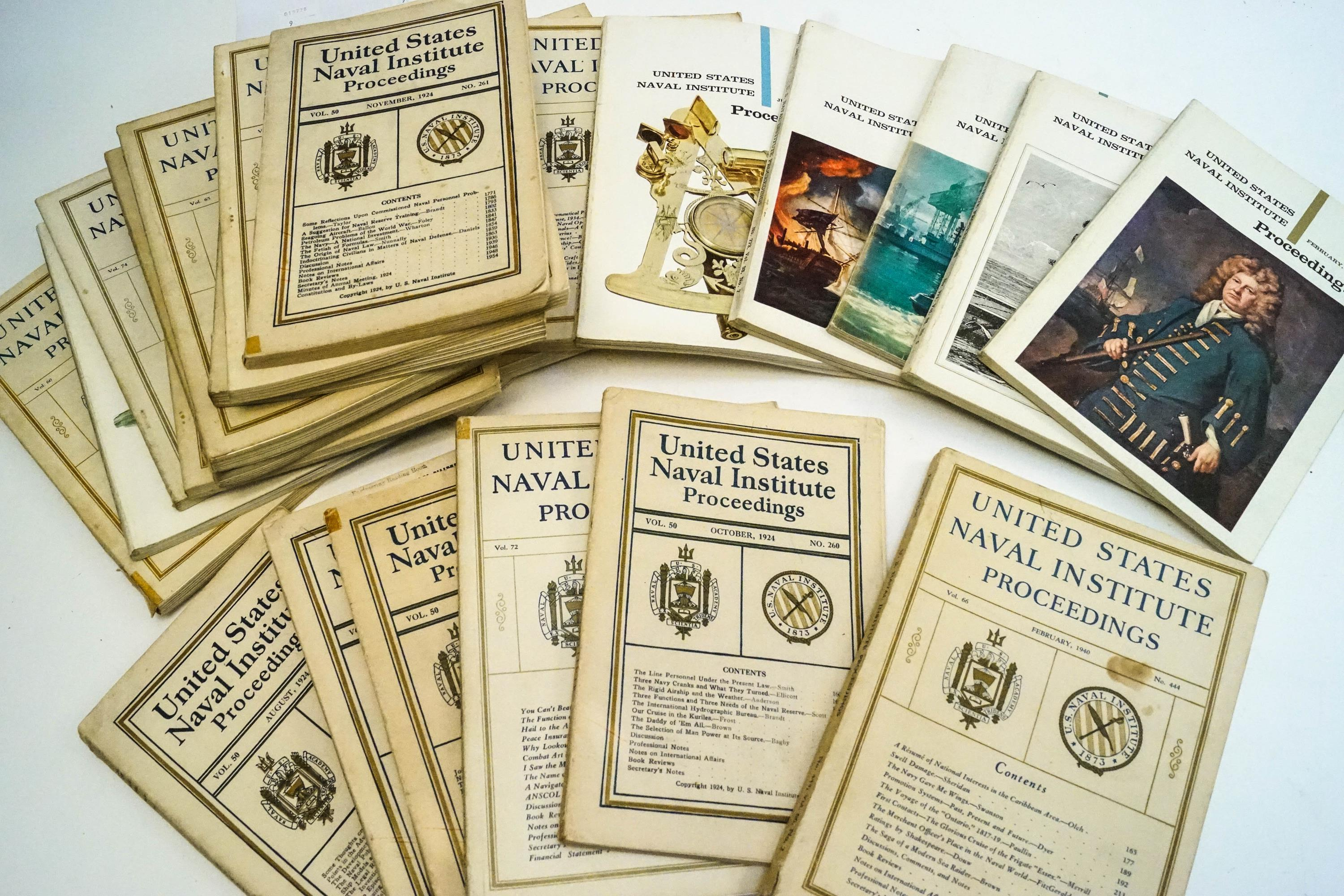 Lot 49 - A United States Naval Institute proceedings