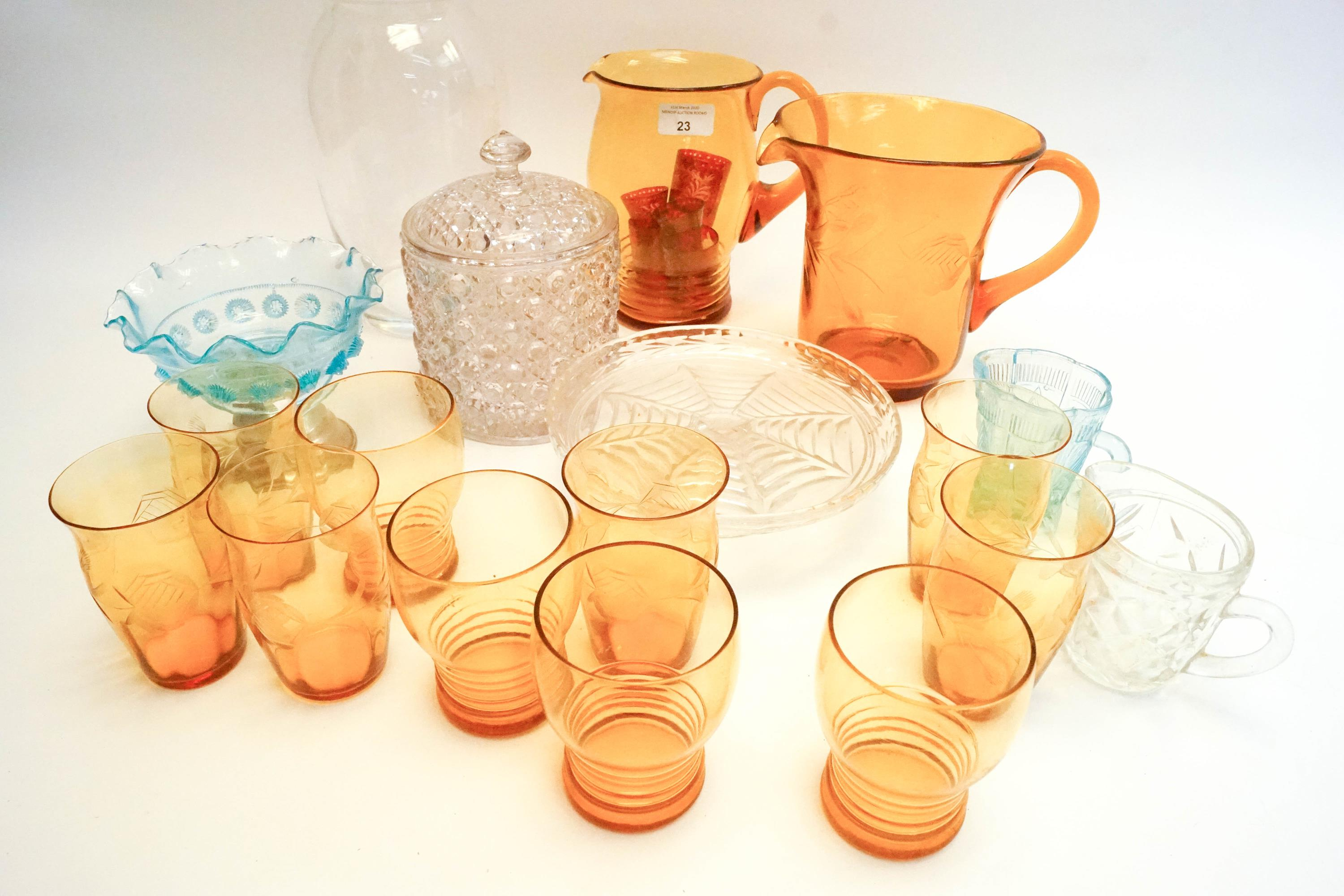 Lot 23 - A lemonade set and other glass