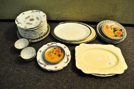 A set of plates,