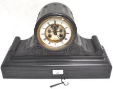 A black slate clock