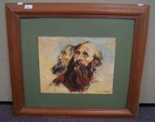 J Ford, Head study, oil on board, signed and dated lower right,