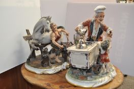 A Capo di Monte of an ice cream man and farrier,