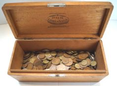 A box of assorted coins