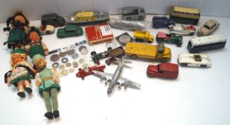A small selection of pre-decimal coinage and other items