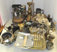 A group of silver plate,