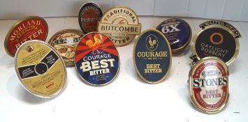 A quantity of beer pump labels