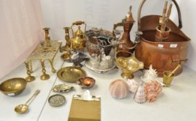 A quantity of silver plate and other metalware