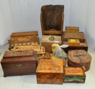 A group of wooden boxes and a rack