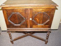An oak cupboard