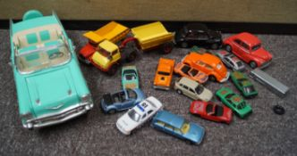 A group of assorted model cars