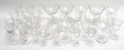 Champagne bowls and other glassware