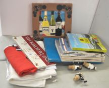 A group of French books and other items
