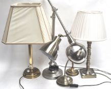 Five modern table lamps
