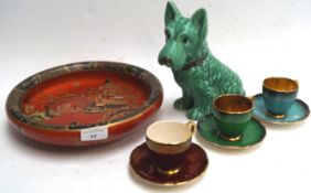 A Sylvac Scottie and other items