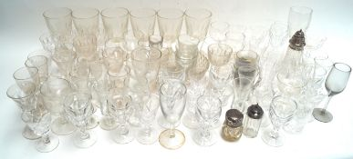 A quantity of 19th century and later drinking glasses