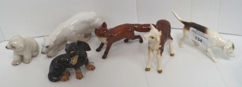 A small quantity of Beswick and other figures
