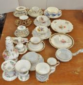 A Royal Crown Derby Imari cup and saucer and other ceramics