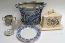 A selection of ceramics and glass