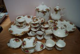A group of Royal Albert Old Country Roses china