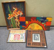 A Moroccan style photograph frame,