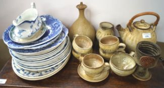 A group of Art pottery pieces,