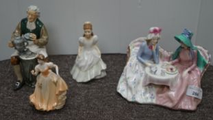 A Royal Doulton afternoon tea service and three others