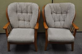 A pair of Ercol style armchairs