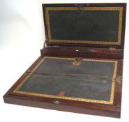 A 19th century brass bound mahogany writing slope