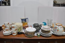 An Imari plate and other items