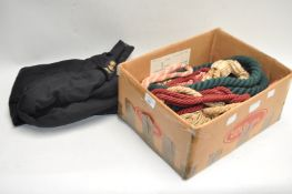 Curtain ties and a uniform jacket