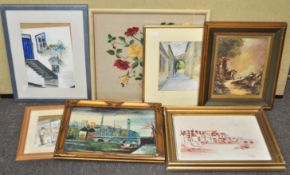 A group of assorted frame works