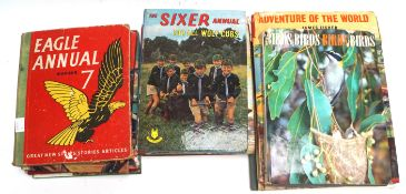 A small collection of children's books and Annuals,