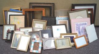 A quantity of picture frames