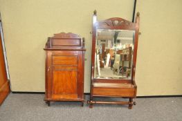 A mahogany wall cupboard and another