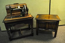 A sewing machine,