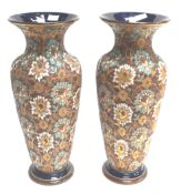 A pair of Doulton Slates patent vases
