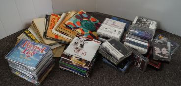 A collection of vinyl records,