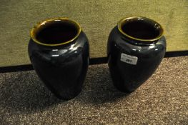 A pair of Denby ware baluster vases,